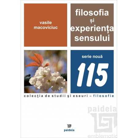 Filosofia si experienta sensului E-book 15,00 lei