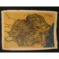 Hărți România imprimate pe hârtie manuală