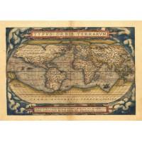 Hărți - Atlas Ortelius - hârtie manuală