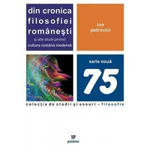 Din cronica filosofiei româneşti